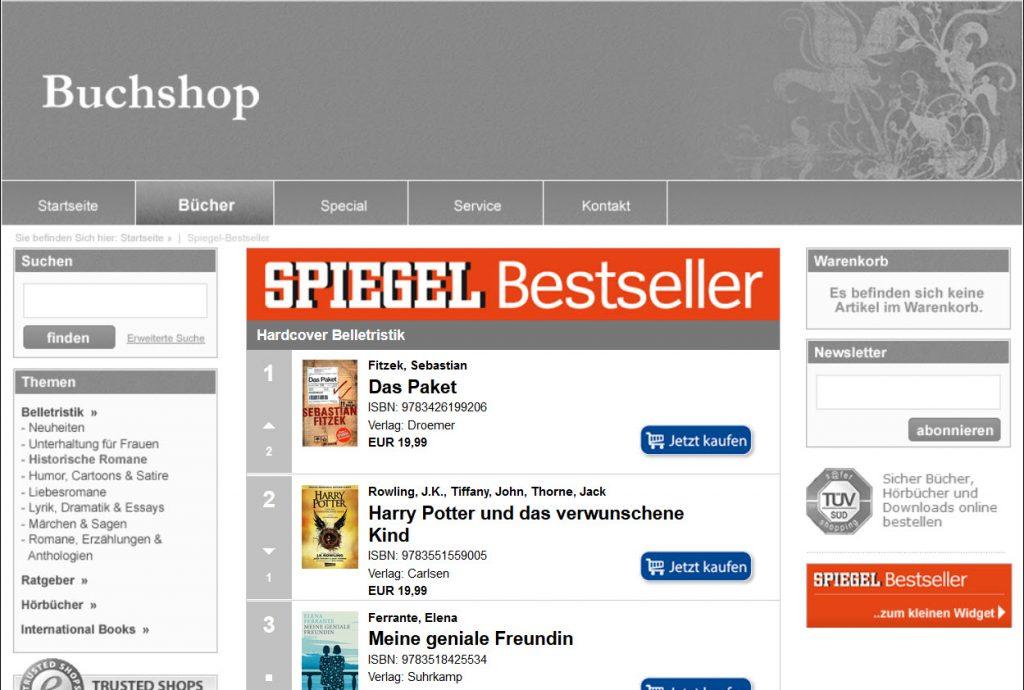 Bestseller-Widget Bespiel