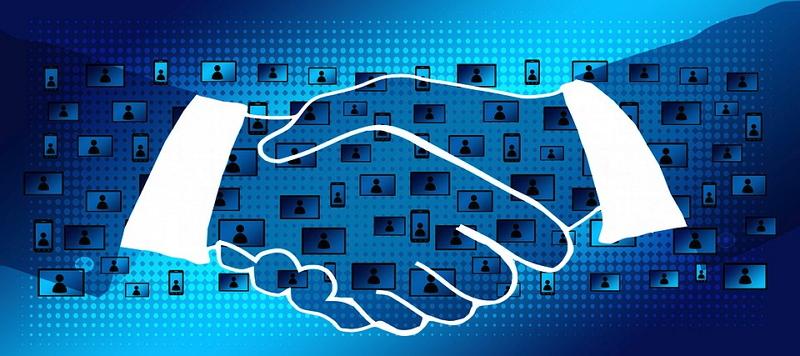 Blockchains vereinfachen auch den Abschluss von Verträgen. Grafik: Pixabay
