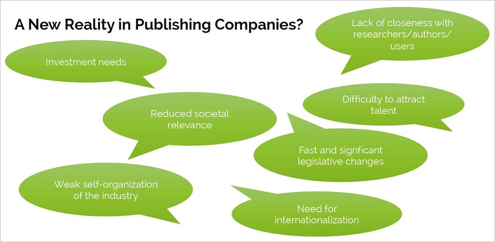 Herausforderungen im wissenschaftlichen Publizieren. Grafik: Fullstopp