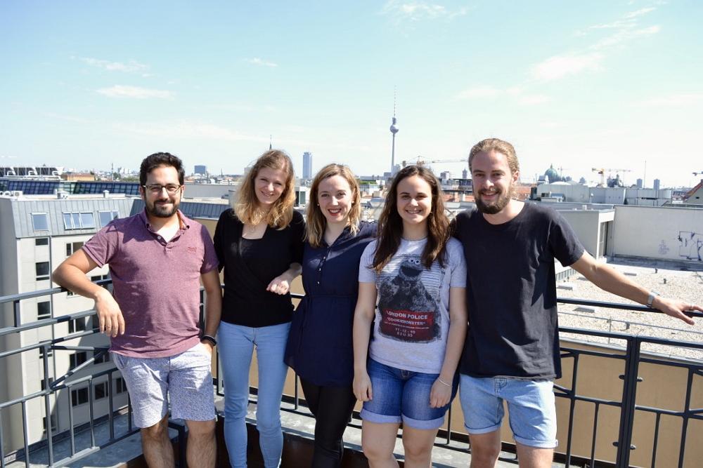 Das Team von Bunch. In der Mitte Erfinderin Darja Gutnick. Foto: Bunch.