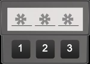 Abbildung 1: 3-stelliges Passwort aus 3 Zeichen