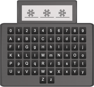 Abbildung 3: 3-stelliges Passwort aus 62 Zeichen