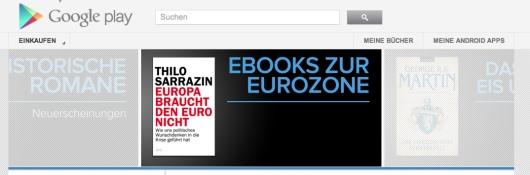 Google startet E-Book-Vertrieb in Deutschland