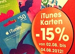 Abmahnung wegen iTunes-Karten?