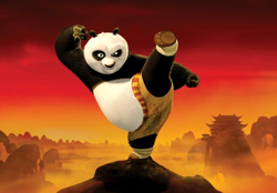 Panda eifert Eiskönigin nach