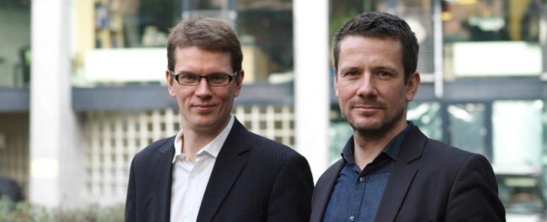 Porträt der Substanz-Gründer Denis Dilba und Georg Dahm