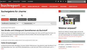 Die neue Suche von buchreport.de ist sehr performant und filtert die Ergebnisse inhaltlich.