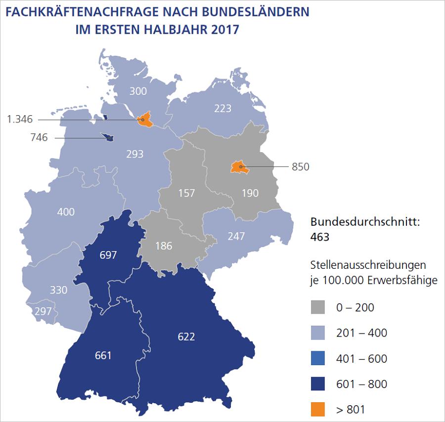 Land unter in Hamburg: Fachkräfte verzweifelt gesucht. Grafik: StepStone
