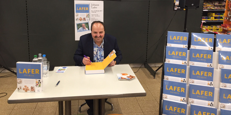 Was macht Johann Lafer im Supermarkt?