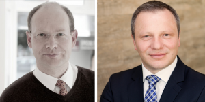 Knut Nicholas Krause (Geschäftsführer und Gründer von knk) und Olaf Remmele (Geschäftsführer Rhenus Media Services)