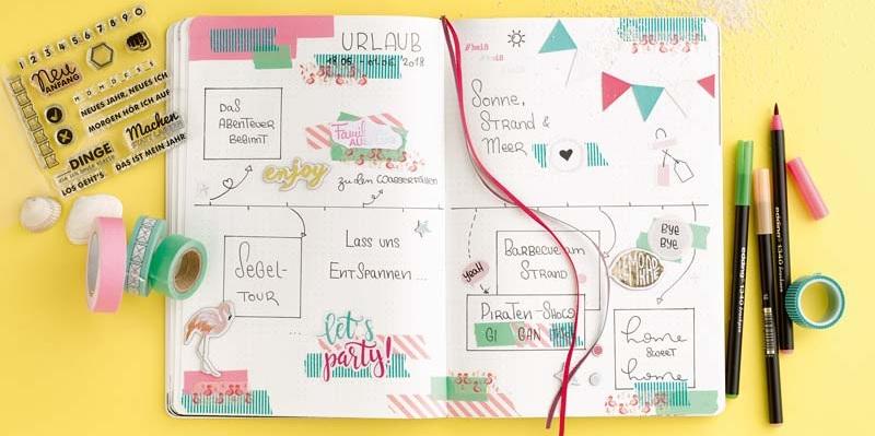 Lebensplanung mit Stift und Notizbuch