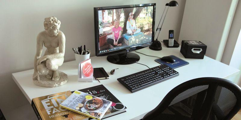 """""""Bin ich fertig, desinfiziere ich den Schreibtisch"""""""