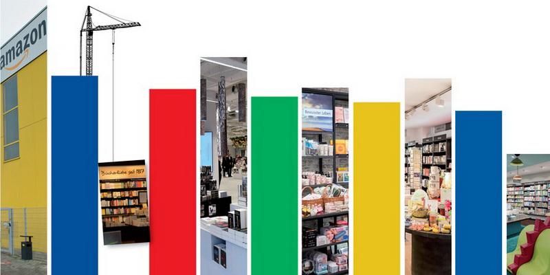 """Symbolfoto """"Die größten Buchhändler 2018/19"""" (Fotos: Illustration: https://www.freevector.com; Sabine Baum; Gabriele Büchelmeier; Montage: buchreport)"""