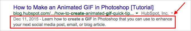 Abb.5: Meta-Beschreibung in der Google-Suche.