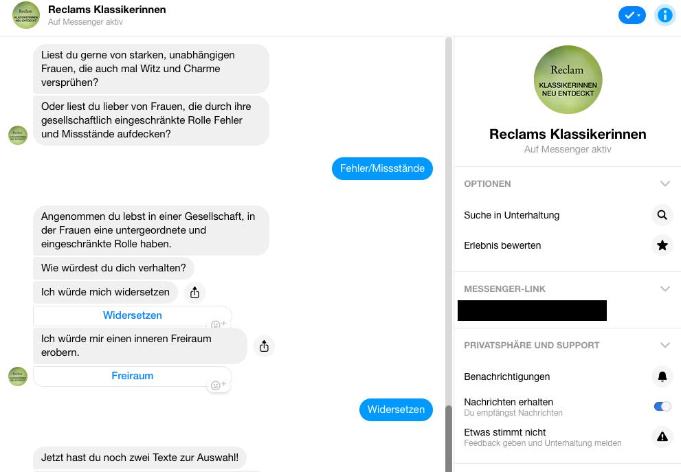 Der neue Chatbot von Reclam soll den Kunden Orientierung bei der Wahl der nächsten Lektüre bieten.