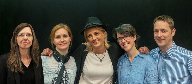 Die Autoren Christine Larbig, Ursina Kellerhals, Jens Meissner, Patricia Wolf und Ute Klotz. Foto: privat.