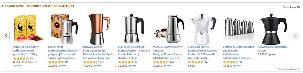 Abbildung 3: Gesponserte Produkte auf einer Produktdetailseite
