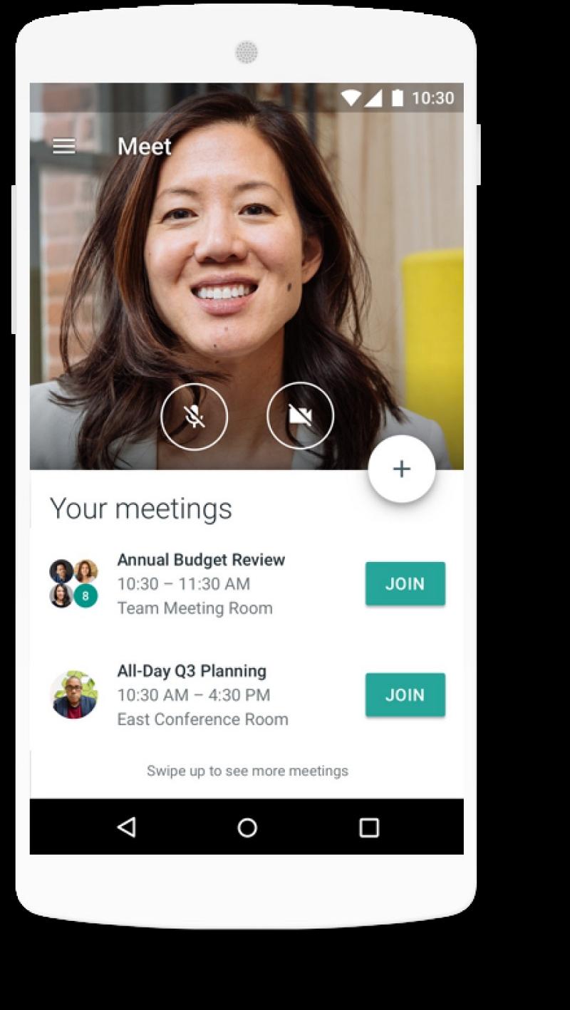 Sprach- und Videoanrufe in Google Meet