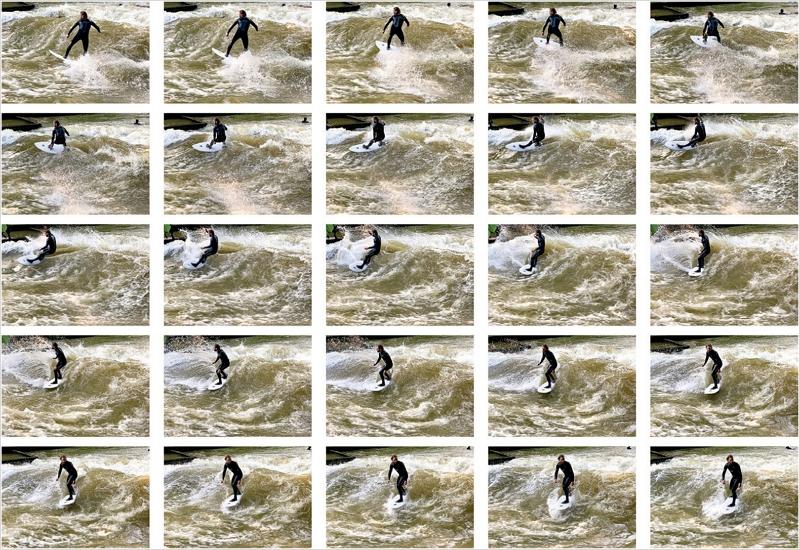 Anzeige der im Serienaufnahmen-Modus aufgenommenen Bilder zur Auswahl