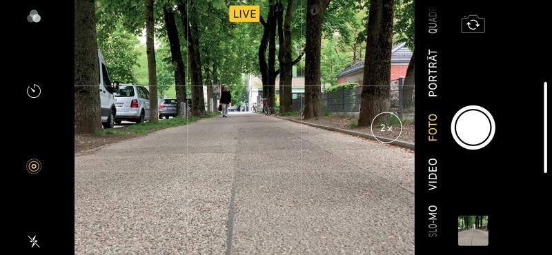 … und im LIVE-Modus der iPhone-Kamera-App