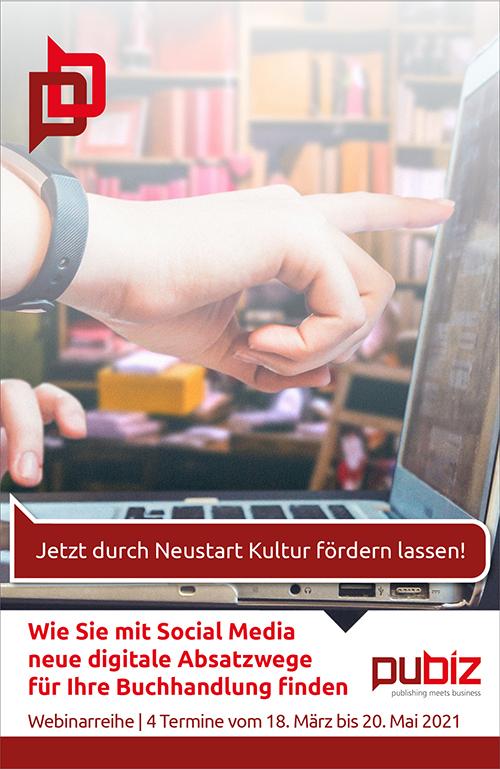 pubiz Webinar: Wie Sie mit Social Media neue digitale Absatzwege für Ihre Buchhandlung finden