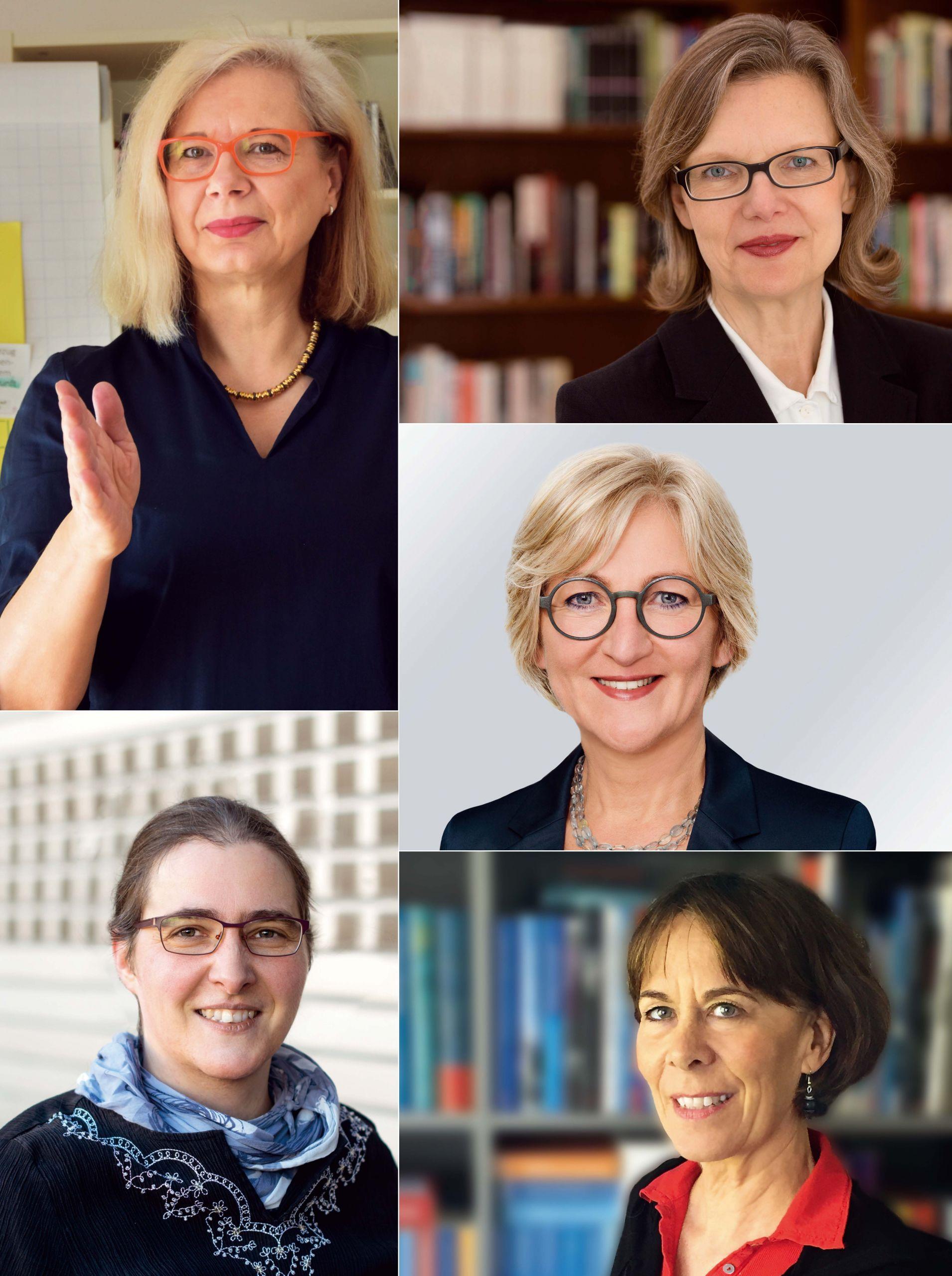 Ellen Braun, Siv Bublitz, Martina Bruder, Nadja Kneissler und Jana Stahl (im Uhrzeigersinn v.l.o.)