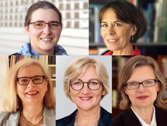 Haben zwei Stunden lang mit den buchreport-Redakteuren diskutiert: Jana Stahl, Nadja Kneissler, Ellen Braun, Martina Bruder, Siv Bublitz