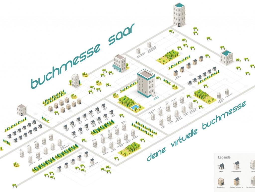 Überblick über alle Online-Stände der digitalen Messe (Foto: Buchmesse Saar)