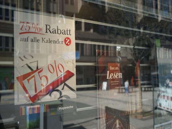Rabattaktion für Kalender (Foto: Daniela Zielberg)