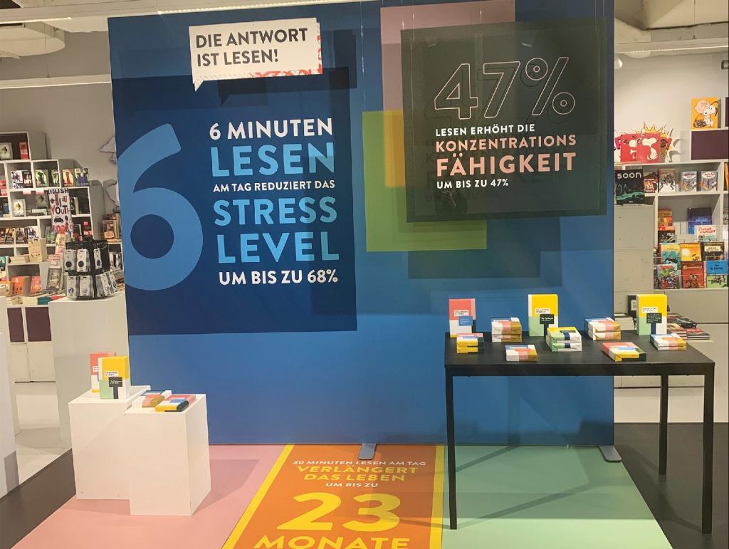Die Lesekampagne erhält in Hugendubels Filiale am Münchner Stachus einen großen Auftritt (Foto: Hugendubel)