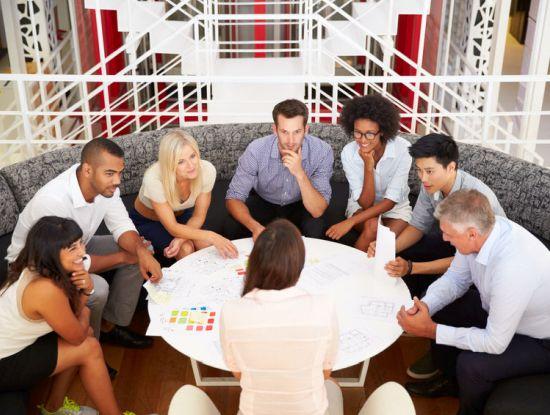 Treffen einer Arbeitsgruppe