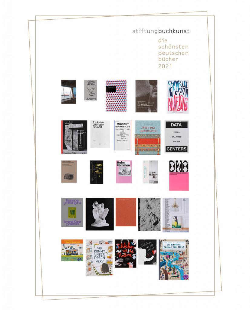 """Die 25 """"schönsten Bücher"""" 2021 (Foto: Stiftung Buchkunst / Uwe Dettmar)"""