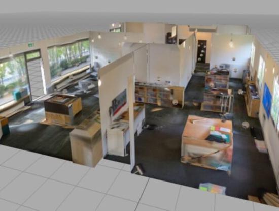 3D-Modell der Innovationswerkstatt eduLAB