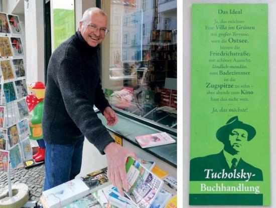Jörg Braunsdorf ist als Buchhändler politisch aktiv (Foto: Tucholsky-Buchhandlung)