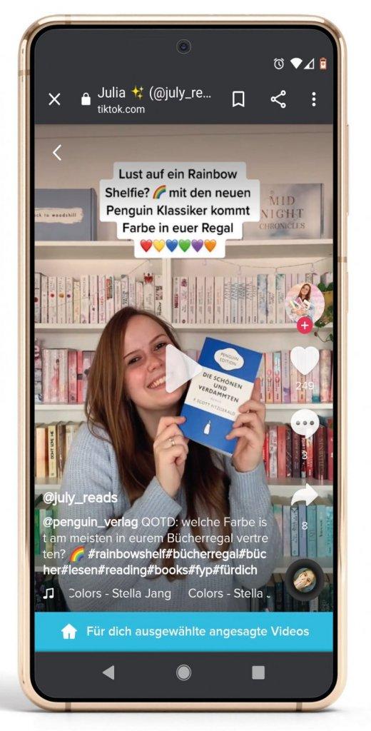 Der Kanal @july_reads ist nur ein Booktok-Beispiel. (Foto: User17882893, freepik.com, [M] buchreport)
